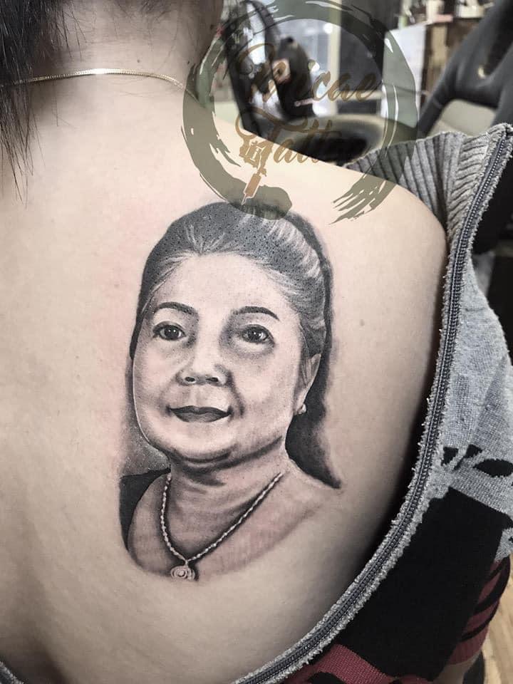 Hình xăm tả thực tại tiệm xăm giá rẻ Micae tattoo